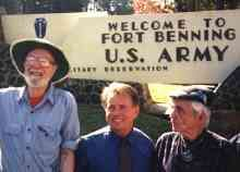 Pete Seeger, Martin Sheen         and Phil Berrigan